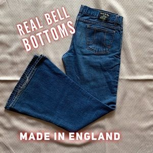 🔥 REAL bell bottom jeans made in England